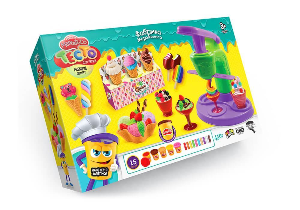 "Детский набор тесто для лепки ""Фабрика мороженного"", Master Do, Danko Toys"