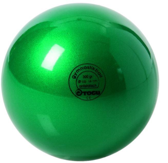 Мяч гимнастический 300гр, Togu, лакированный, зелёный