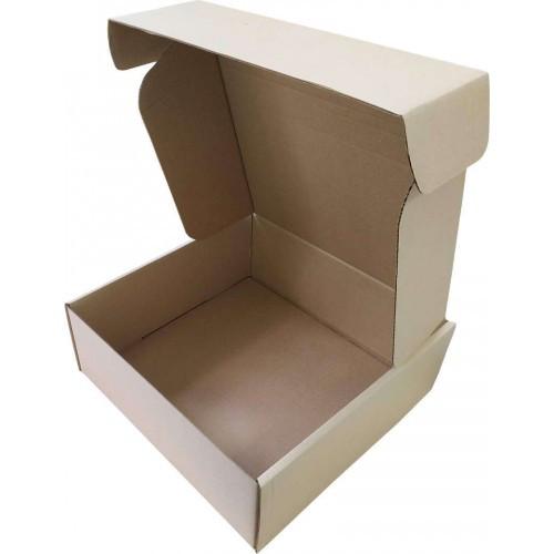 Подарочная коробка самосборная большая 400 x 400 x 150, + сено