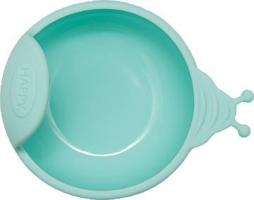 Силиконовая тарелка на присоске Kinderenok Happy Meal бирюзовый 221113