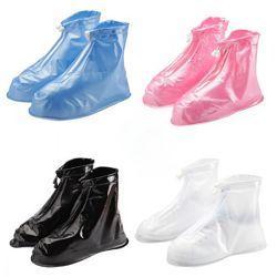 Водонепроницаемые высокие бахилы чехлы на обувь размер М 36-38 р обуви ГОЛУБОЙ