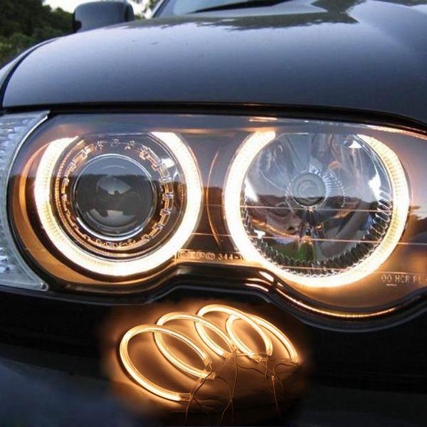 Ангельские глазки (4*131 мм) CCFL для BMW 36/38/39/46 желтые
