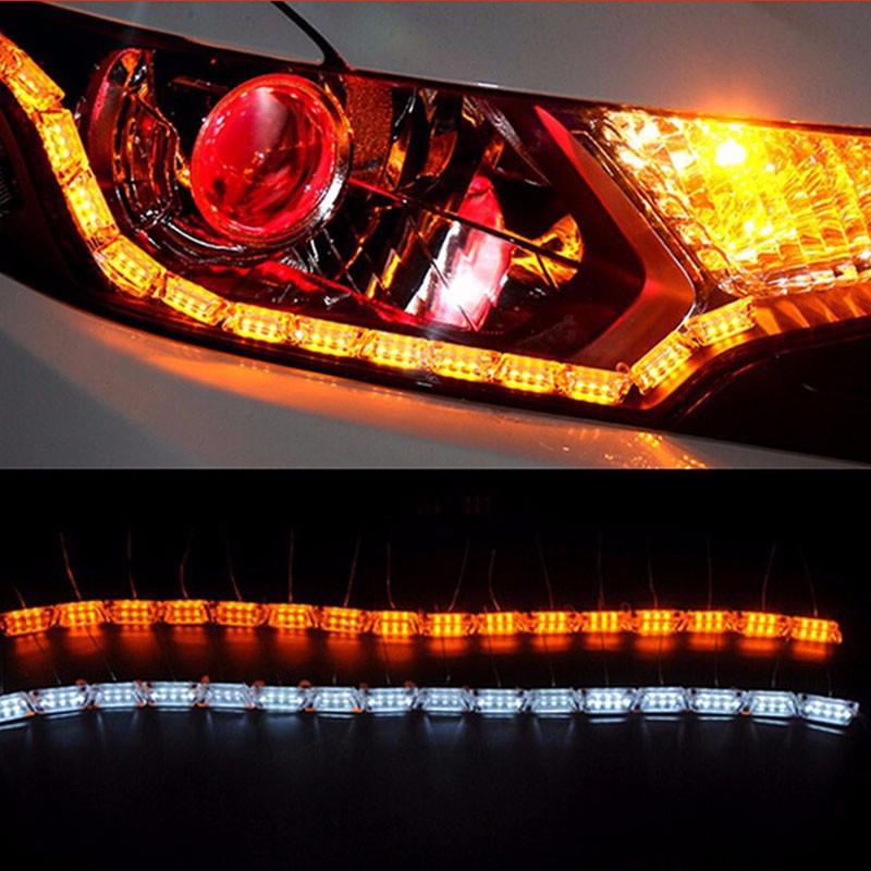 "Гибкие Crystal LED Strip DRL с ""бегущим"" поворотом 65 см КОМПЛЕКТ"