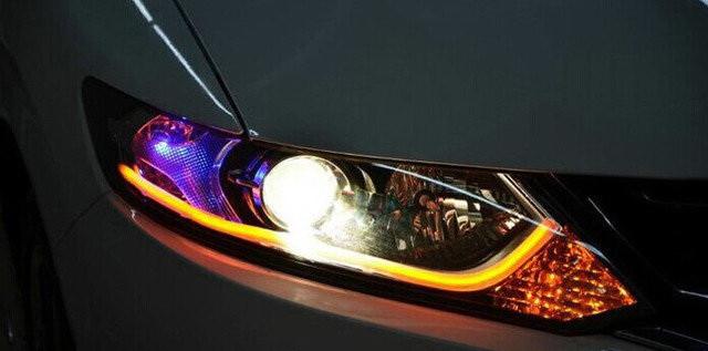 45 см. гибкие дхо Flexible DRL ходовые огни с функцией поворота. Цена за ПАРУ