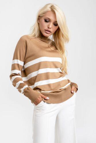 Подовжений светр в смужку