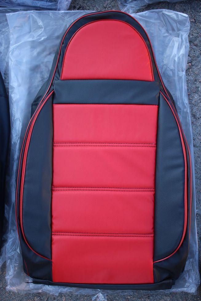 Чехлы на сиденья Саманд ЛХ (Samand LX) (универсальные, кожзам/автоткань, пилот) Черно-бежевый