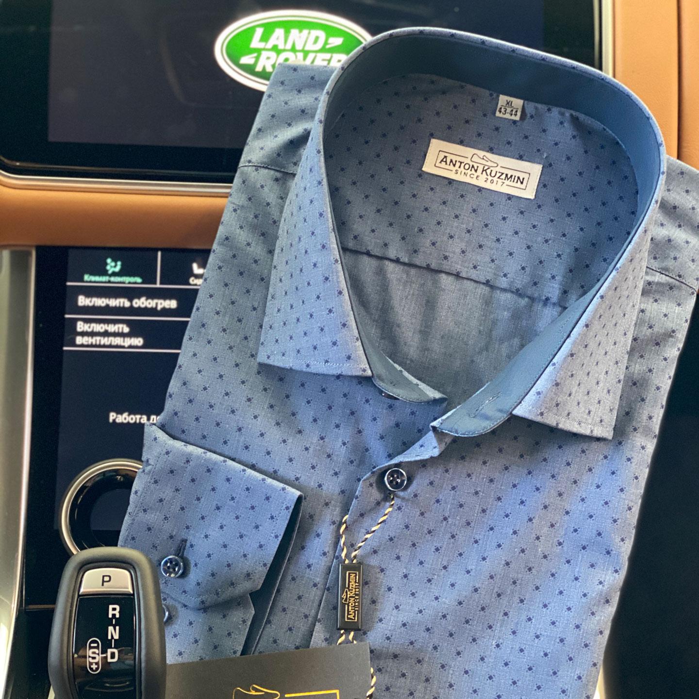 Рубашка Slim Fit с принтом 009