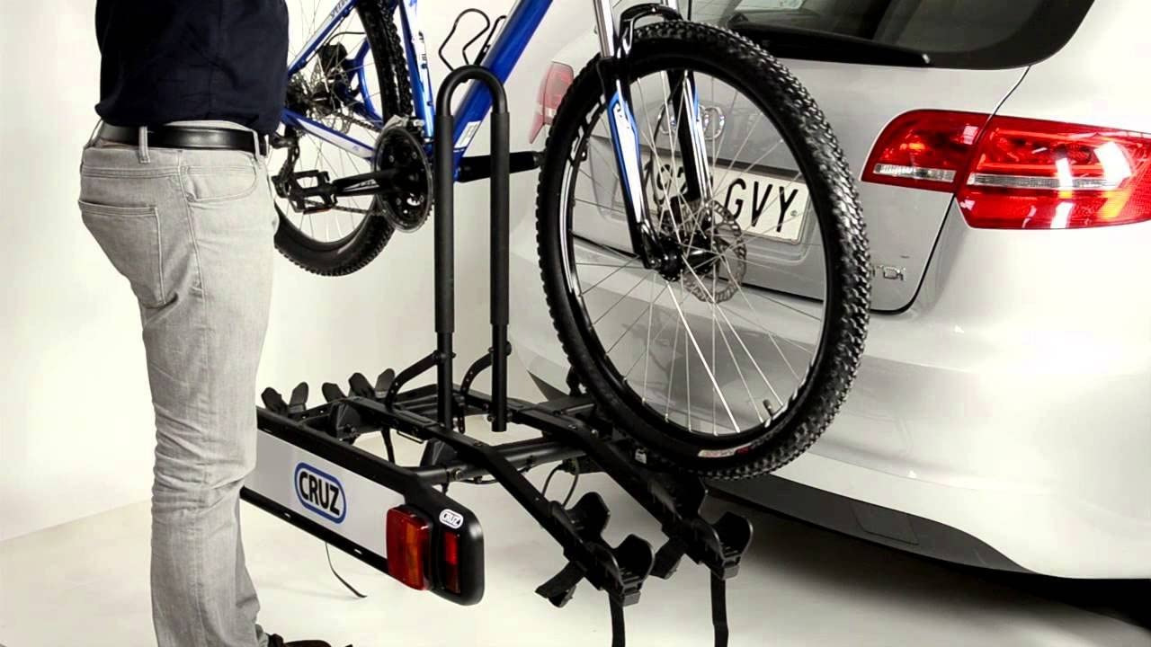 Багажник для перевозки двух велосипедов на фаркопе Cruz Stema 2 (940-500)   ДекорАвто