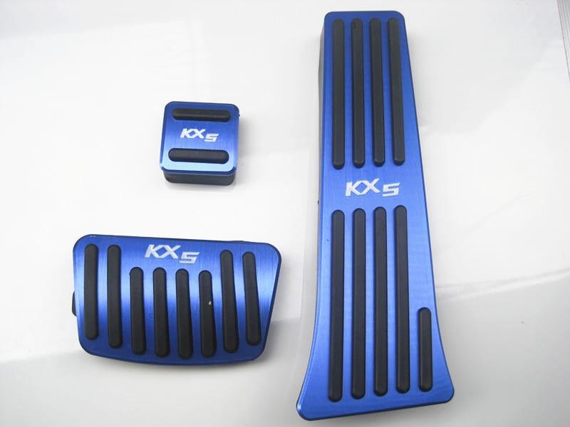 Накладки на педали для Kia Sportage 2016+ Синие   ДекорАвто