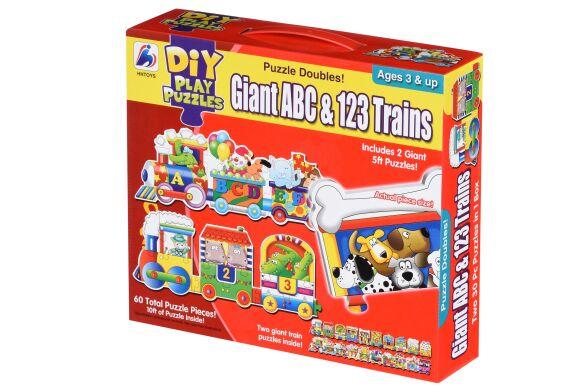 Пазл Same Toy Большой поезд Букв и Цифр 2095Ut (2095Ut)