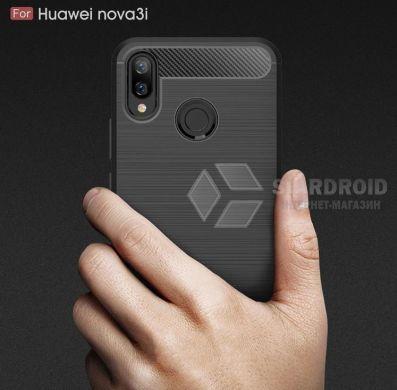 Силиконовый чехол Hybrid Carbon для Huawei P Smart Plus - Black