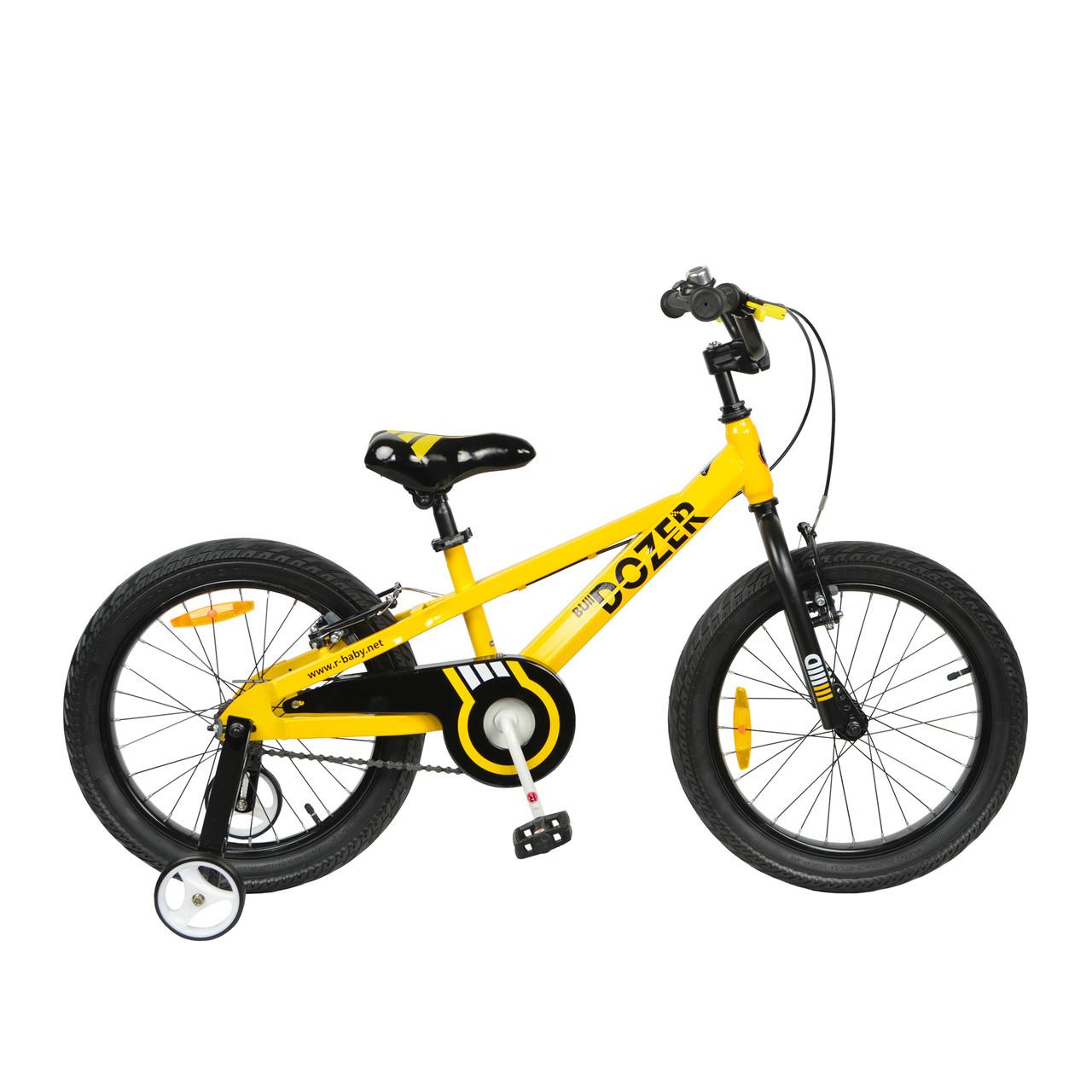 "Велосипед RoyalBaby BULL DOZER 18"", OFFICIAL UA, желтый"