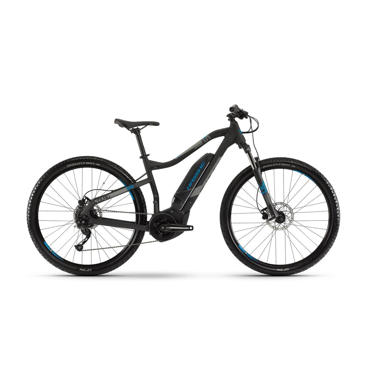 "Электровелосипед Haibike SDURO HardNine 1.0 400Wh 9 s. Altus19 HB YCS 29"", рама XL, черно-серо-синий матовый, 2019"