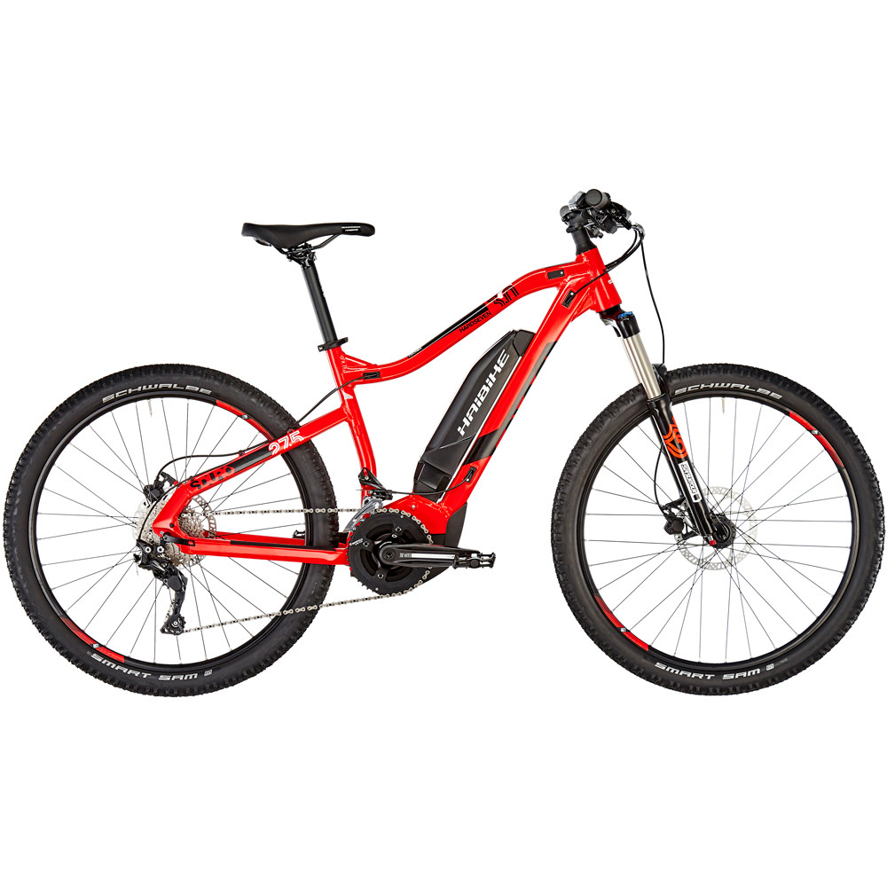 "Электровелосипед Haibike SDURO HardSeven 3.0 500Wh 27.5"", рама L, красно-черно-белый, 2019"