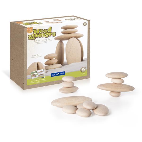 Набор блоков Guidecraft Natural Play Деревянный булыжник (G6771)