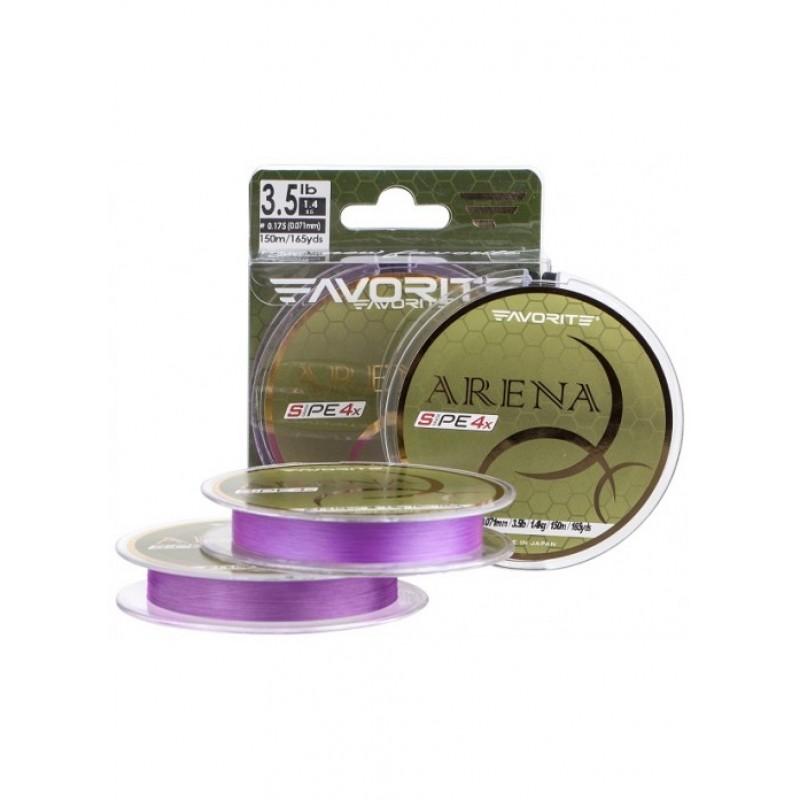 Шнур Favorite Arena PE 4x 100m (purple) #0.2/0.076mm 5lb/2.1kg