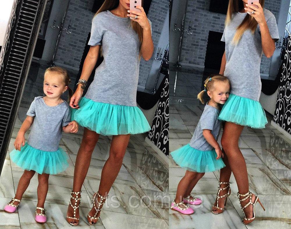 Милое детское платье с фатином pks8