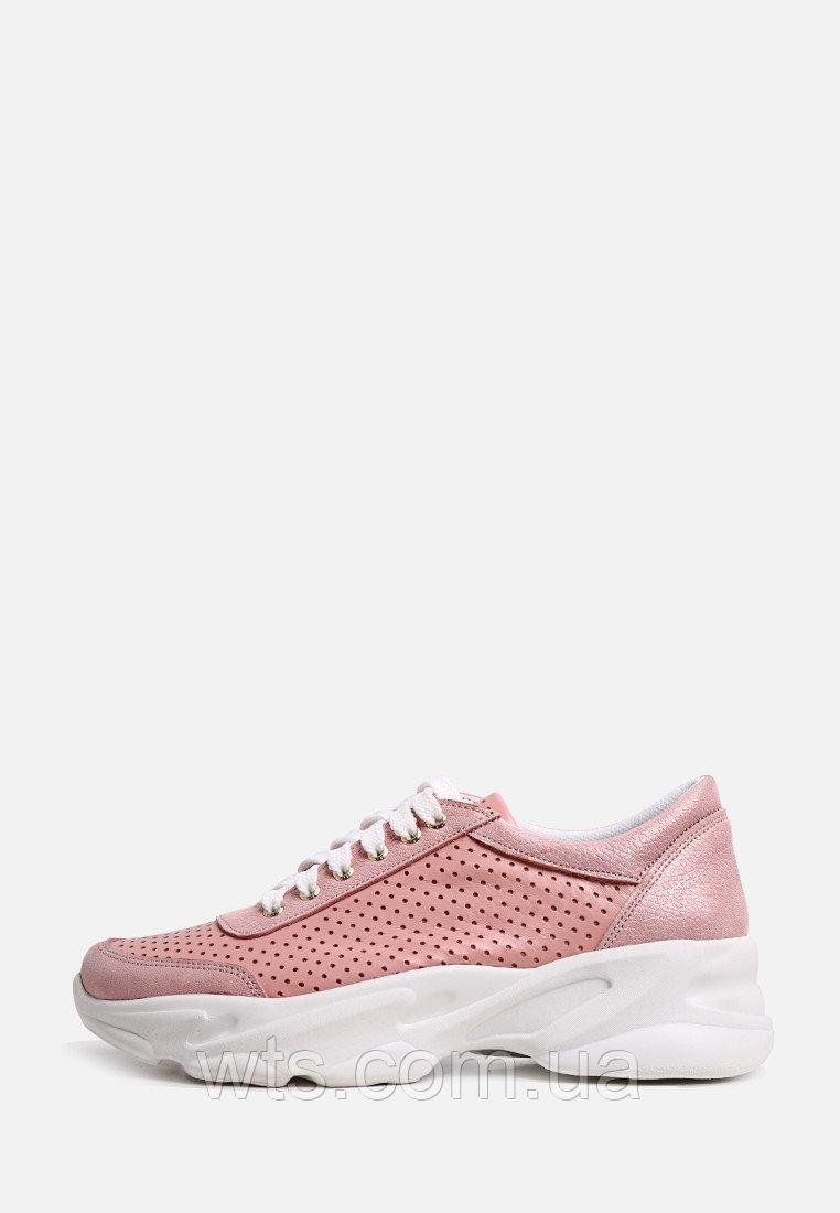 VM-Villomi Стильные розовые перфорированные кроссовки на белой подошве