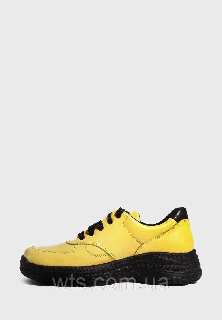 VM-Villomi Желтые кожаные кроссовки на черной подошве