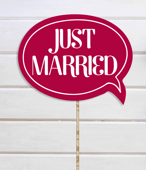 "Табличка для фотосессии ""Just married"""