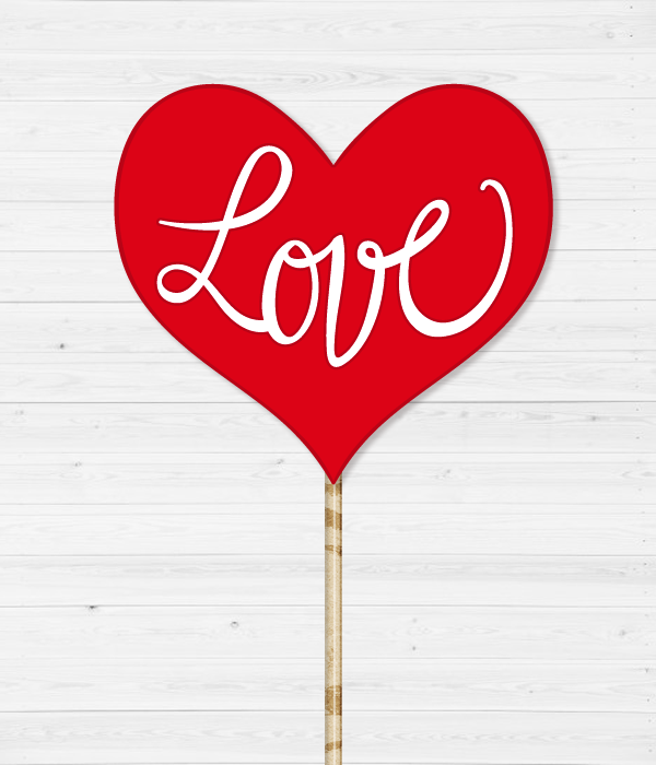 "Табличка для фотосессии ""Love"""