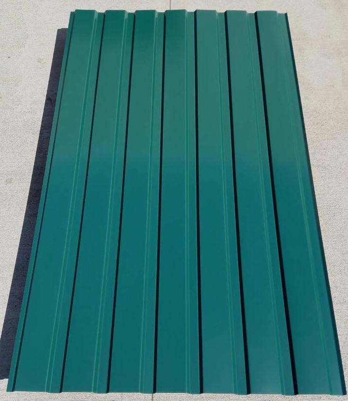 Профнастил для забора, цвет:зеленый ПС-20, толщина 0,30 мм; высота 1.5 метра ширина 1,16 м