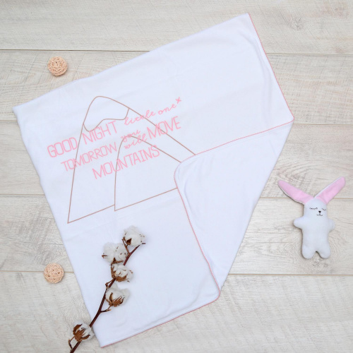 Плед 90*90 белый велюровый Minikin 16100204