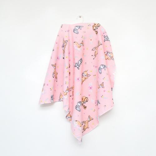 Пеленка фланелевая 75*90 Minikin розовая 190901