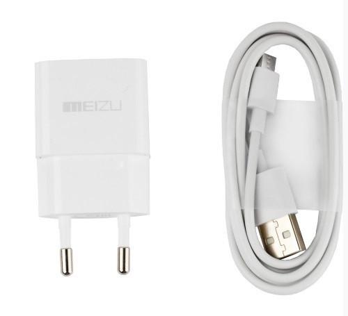Зарядное устройство Meizu 2in1 + кабель 2.0A Белый