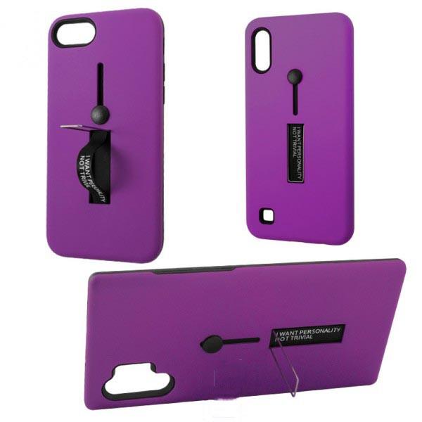 Чехол противоударный Metal Kickstand Soft Touch с держателем Apple iPhone 6, 6S Фиолетовый