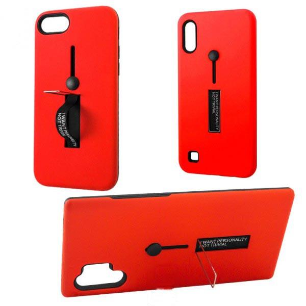 Чехол противоударный Metal Kickstand Soft Touch с держателем Apple iPhone X, XS Красный