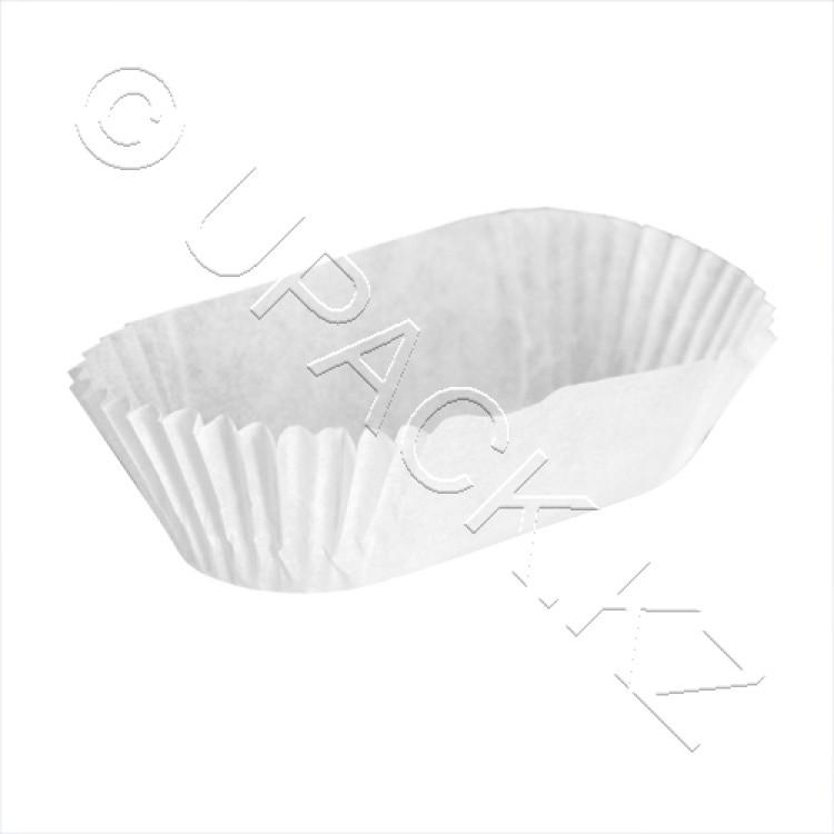 Розетка для выпечки 8х3х2,3см белая Eva 1000шт/уп