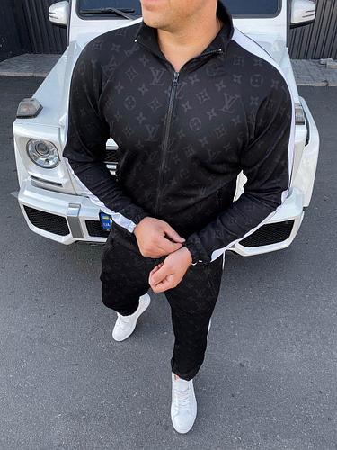 Мужской Спортивный костюм,Louis Vuitton,Black