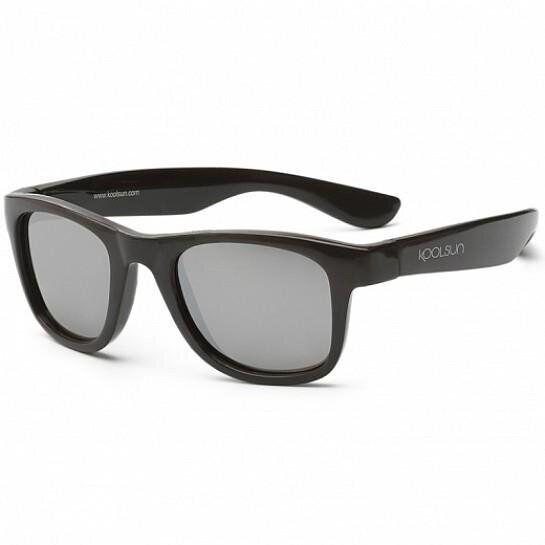 Дитячі сонцезахисні окуляри Koolsun чорні серії Wave (Розмір: 3+)