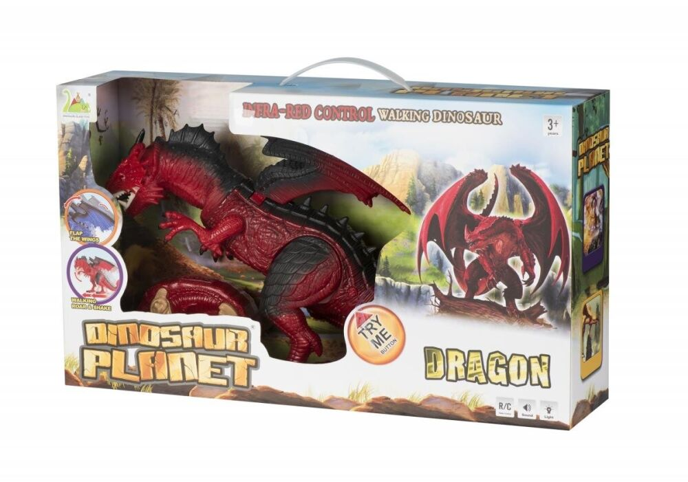 Динозавр Same Toy Dinosaur Planet Дракон (світло, звук) червоний, подарункова ук. RS6139AUt