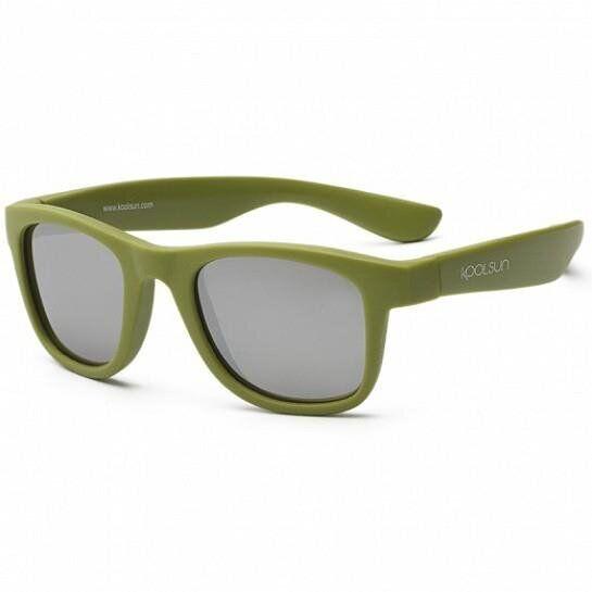 Дитячі сонцезахисні окуляри Koolsun кольору хакі серії Wave (Розмір: 3+)