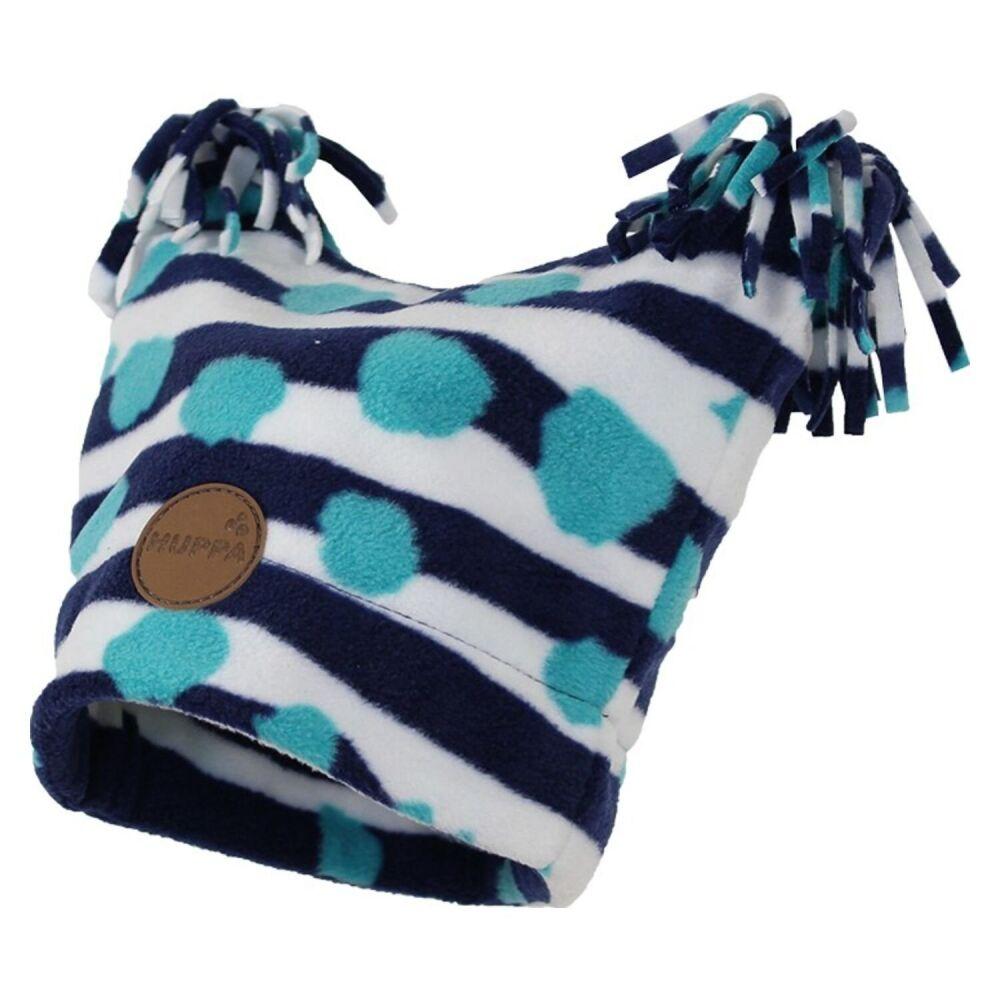 Флисовая шапка, двухслойная WILLIAM navy pattern HUPPA