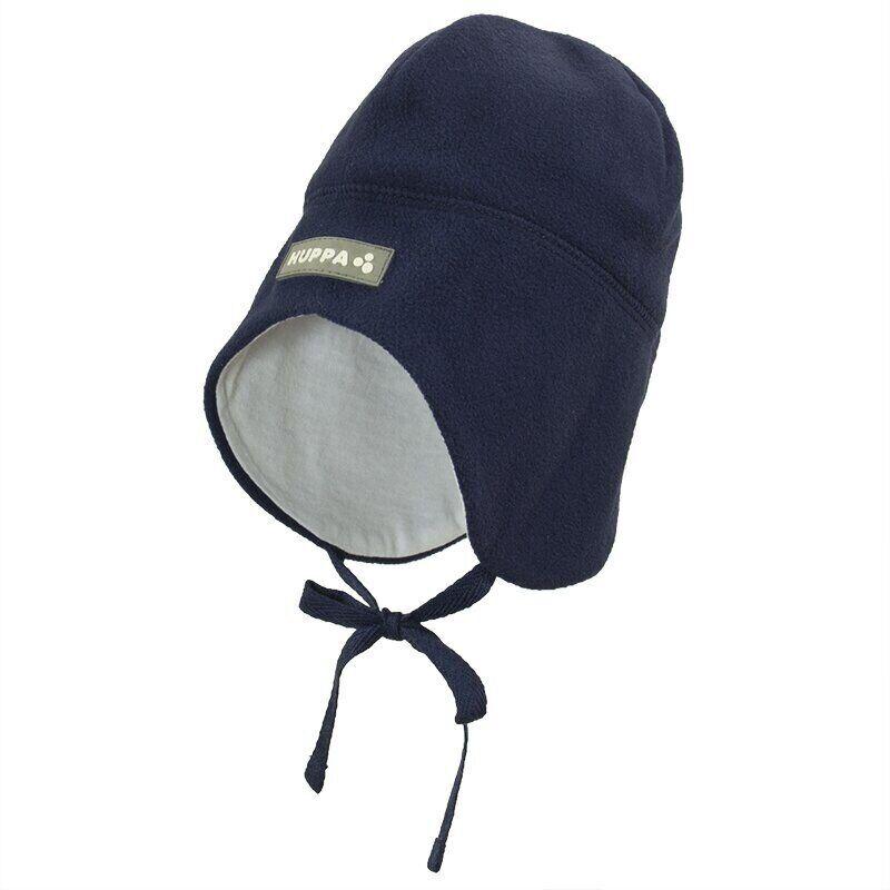 Флисовая шапка для малышей WINNIE тёмно-синий HUPPA