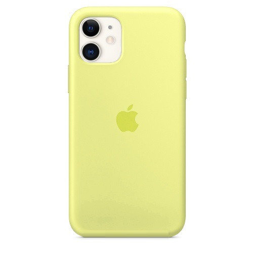 Чехол накладка xCase для iPhone 11 Silicone Case Full Mellow yellow