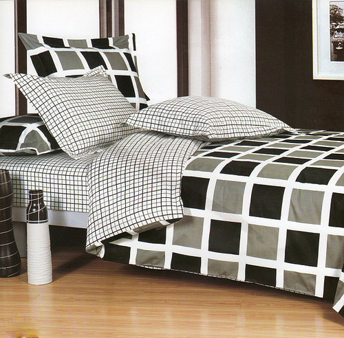 Стильное постельное белье из сатина в клетку