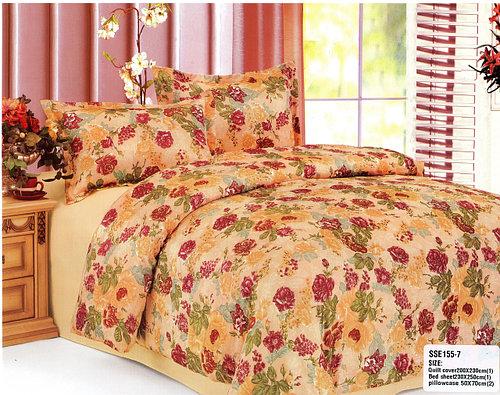 Нежно желтый комплект постельного белье из креш-сатина