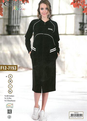 Женский халат Cocoon F12-7153 черный