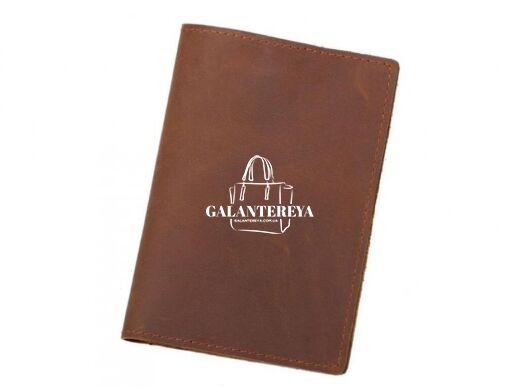 Кожаная обложка для паспорта Tiding Bag FM-103 коричневый