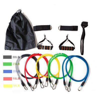 Эспандер для фитнеса трубчатый со съемными лентами NQ9506919