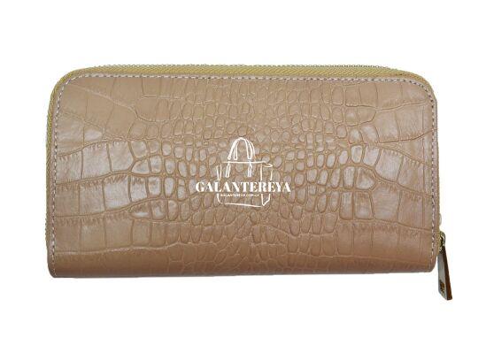 Кошелек женский кожаный Italian fabric bags 2451 beige