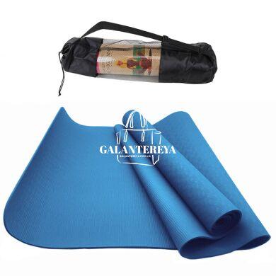Коврик для йоги и фитнеса NQ Sports TPE+TC 6 мм NQ001 blue