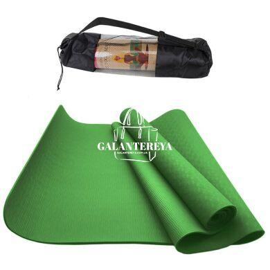 Коврик для йоги и фитнеса NQ Sports TPE+TC 6 мм NQ001 green