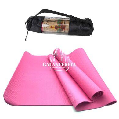 Коврик для йоги и фитнеса NQ Sports TPE+TC 6 мм NQ001 pink