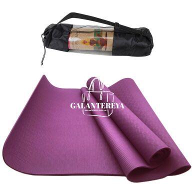 Коврик для йоги и фитнеса NQ Sports TPE+TC 6 мм NQ001 purple