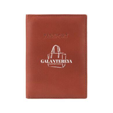 Кожаная обложка для паспорта Visconti 2201 (brown)